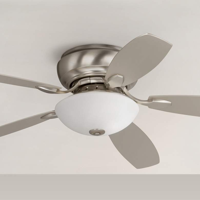 "52"" Casa Habitat™ Brushed Nickel Hugger LED Ceiling Fan"