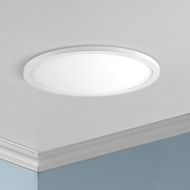 "Maxim Wafer 15"" Wide White 4000K LED Round Ceiling Light"