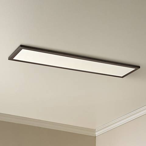 "Maxim Sky Panel 48"" Wide Bronze LED Ceiling Light"