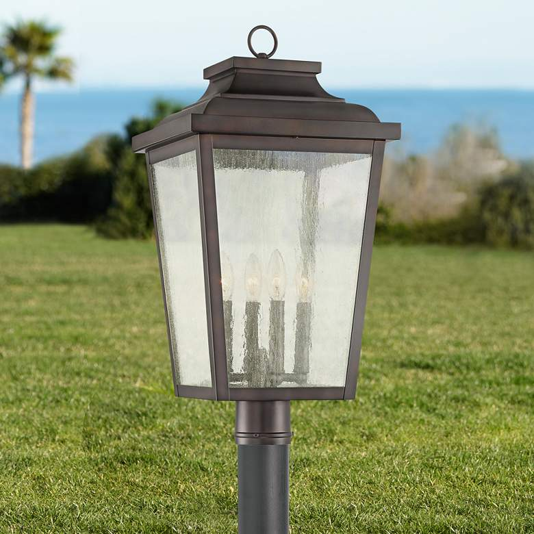 "Irvington Manor 24 1/4""H Chelesa Bronze Outdoor Post Light"