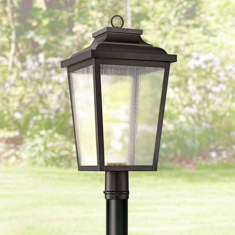 "Irvington Manor 24 1/4"" High Bronze LED Outdoor"