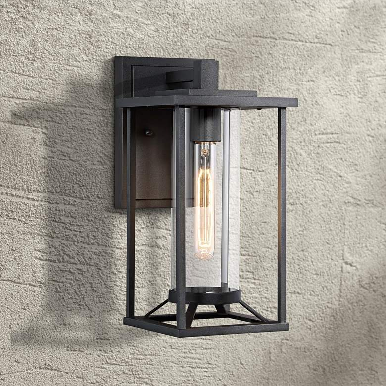 "Trescott 14 1/4"" High Black Outdoor Wall Light"