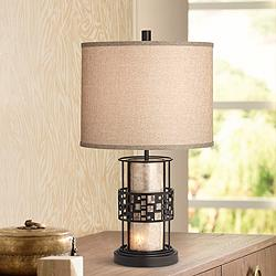 Cooper Mica LED Night Light Table Lamp