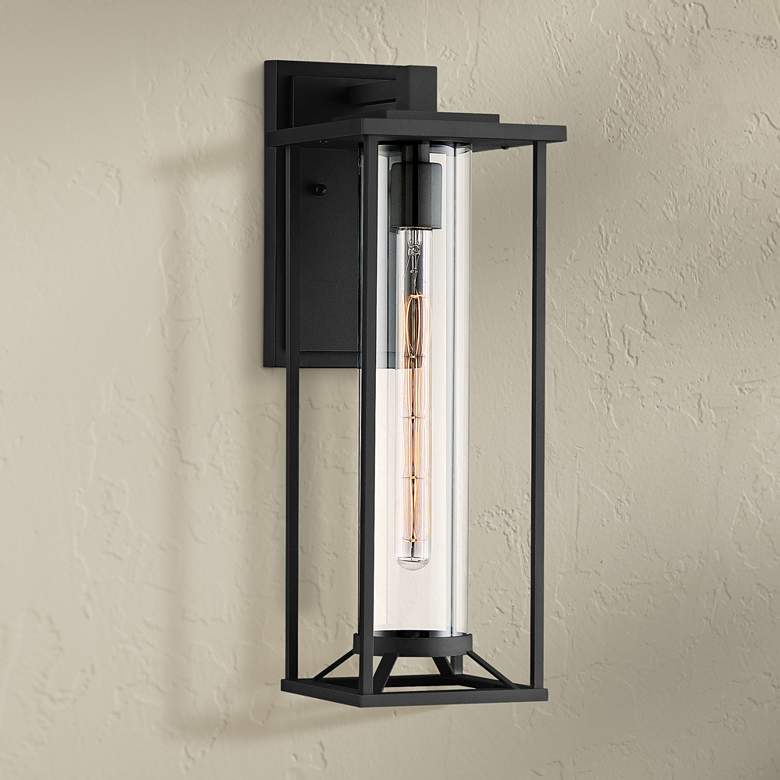 "Trescott 20"" High Black Outdoor Wall Light"