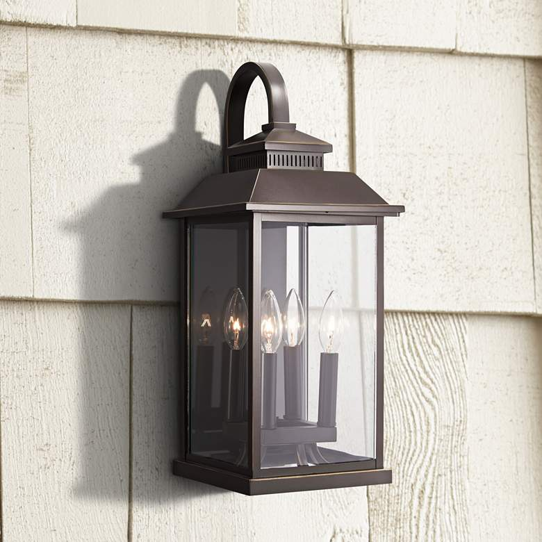 "Miner's Loft 20 3/4""H Oil-Rubbed Bronze Outdoor Wall"