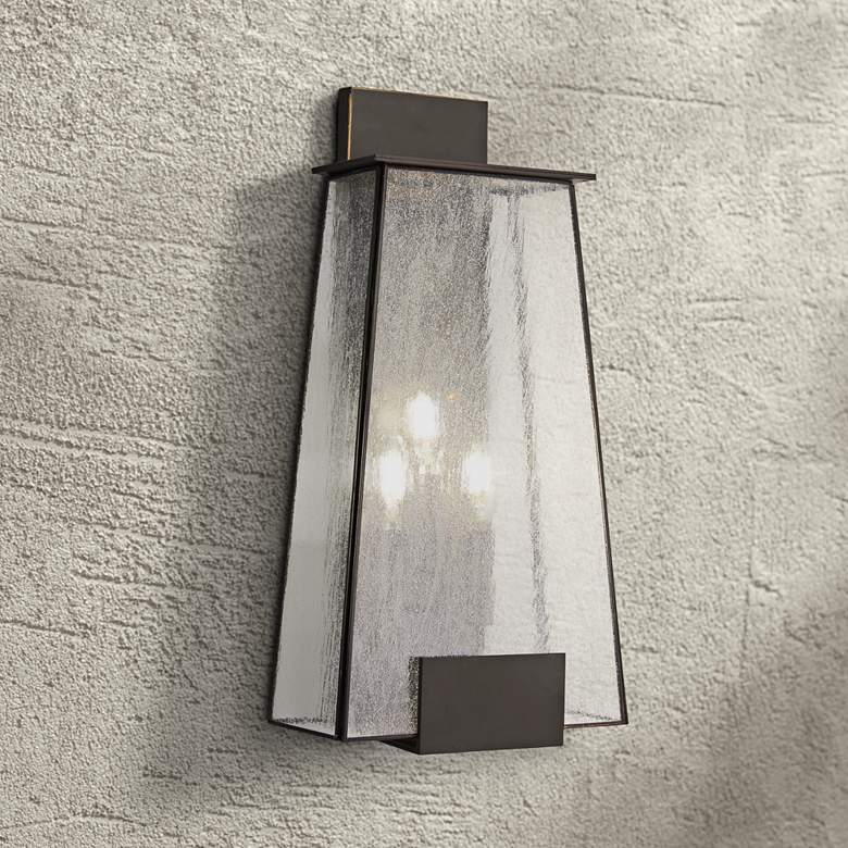 "Bistro Dawn 22"" High Dakota Bronze Outdoor Wall"