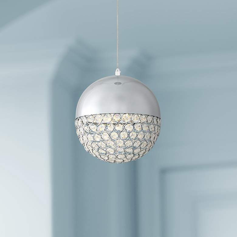 "Possini Euro Gigi 8"" Wide Chrome LED Crystal"