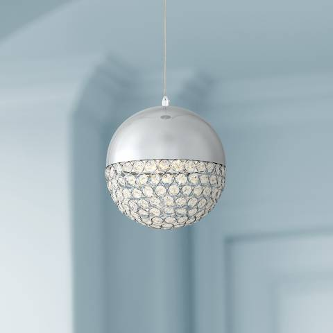 Possini Euro Gigi 8 Quot Wide Chrome Led Crystal Mini Pendant