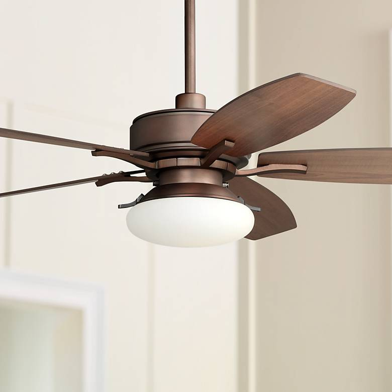 "52"" Bellasario LED Oil-Brushed Bronze Ceiling Fan"