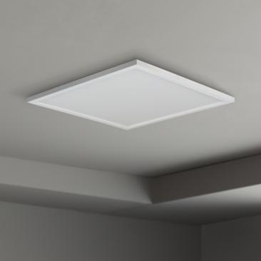 "Maxim Wafer 15"" Wide White 3000K LED Square Ceiling Light"