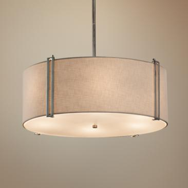 "Textile™ Reveal 24 1/2"" Wide Polished Chrome Pendant Light"
