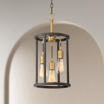 "Alvera 10"" Wide Oil-Rubbed Bronze 3-Light Entry Mini Pendant"