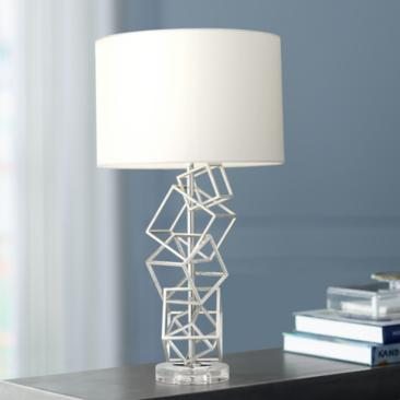 Flinn Metal Cubes Modern Table Lamp