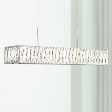"Sera 33 1/2"" Wide Chrome and Crystal 5-Light Island Pendant"