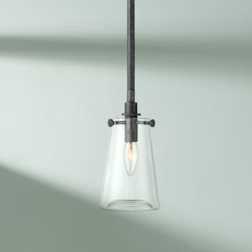 "Possini Euro Madyson 5"" Wide Weathered Zinc Mini Pendant"