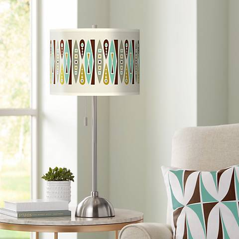 Vernaculis II Giclee Brushed Steel Table Lamp