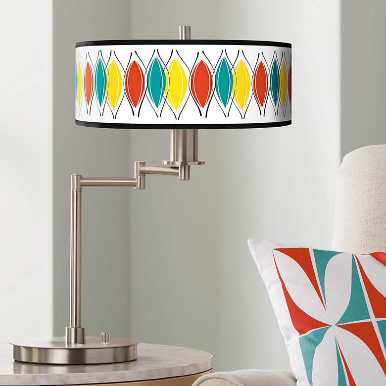 Harmonium Giclee CFL Swing Arm Desk Lamp