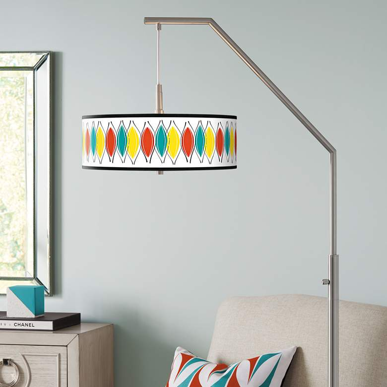 Harmonium Giclee Shade Arc Floor Lamp