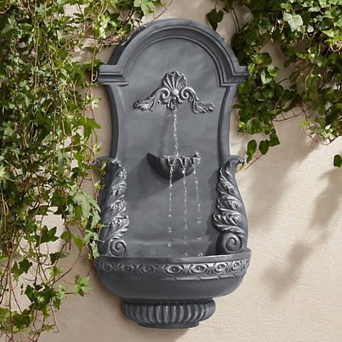 "Tivoli Bronze Ornate 33"" High Wall Fountain"