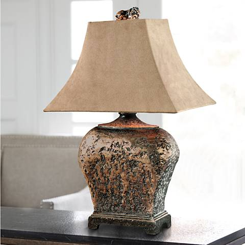 Uttermost Xander Distressed Bronze Table Lamp