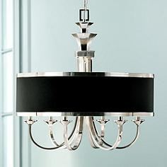 Uttermost Tuxedo Collection 28 Wide Drum Shade Chandelier