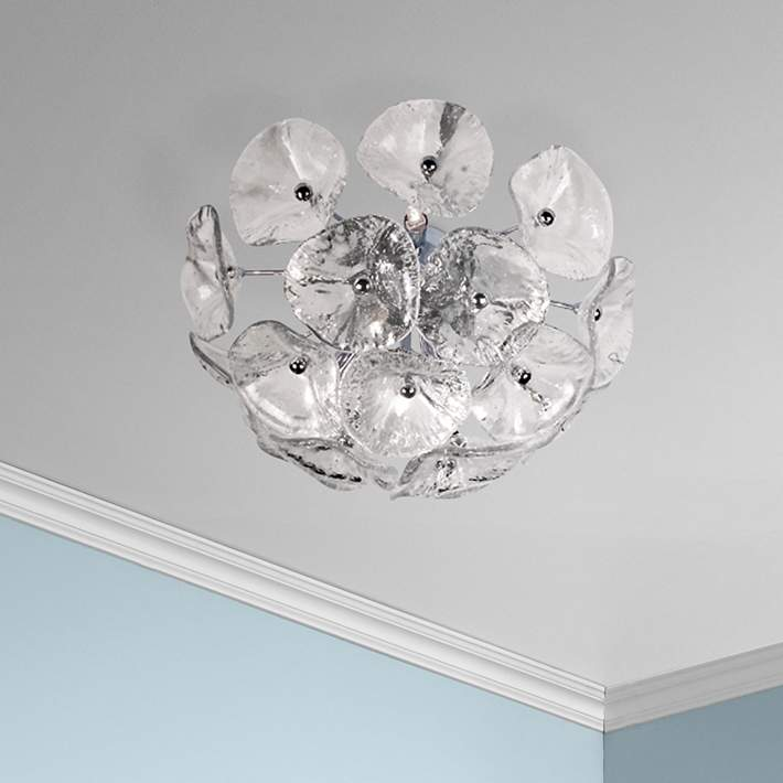 Fiori Collection Clear Glass Flushmount Ceiling Fixture 55805 Lamps Plus