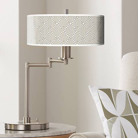 Diamond Maze Giclee CFL Swing Arm Desk Lamp