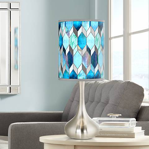 Blue Tiffany Style Giclee Droplet Table Lamp 55e14 Lamps Plus