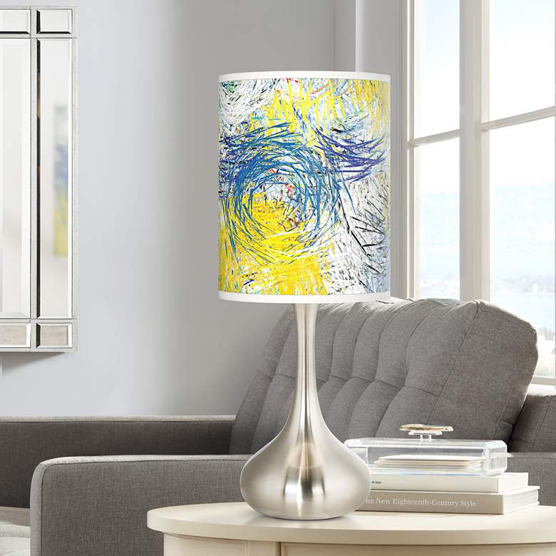 Starry Dawn Giclee Droplet Table Lamp