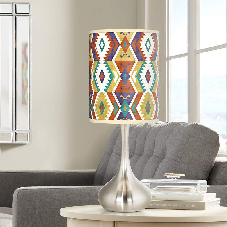 Southwest Bohemian Giclee Droplet Table Lamp