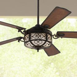 "54"" Hermitage™ LED Golden Forged Outdoor Ceiling Fan"