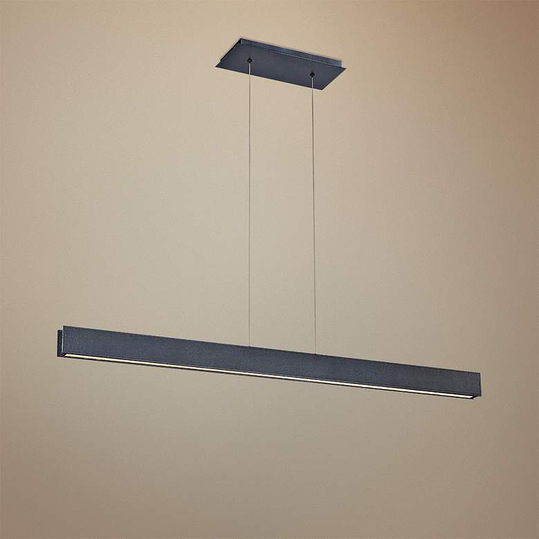 "BDSM 42"" Wide Black LED Kitchen Island Light"