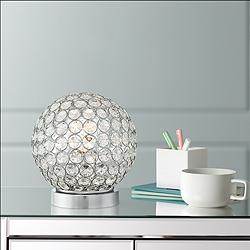 "Amy 7 1/2"" High Crystal Accent Table Lamp"