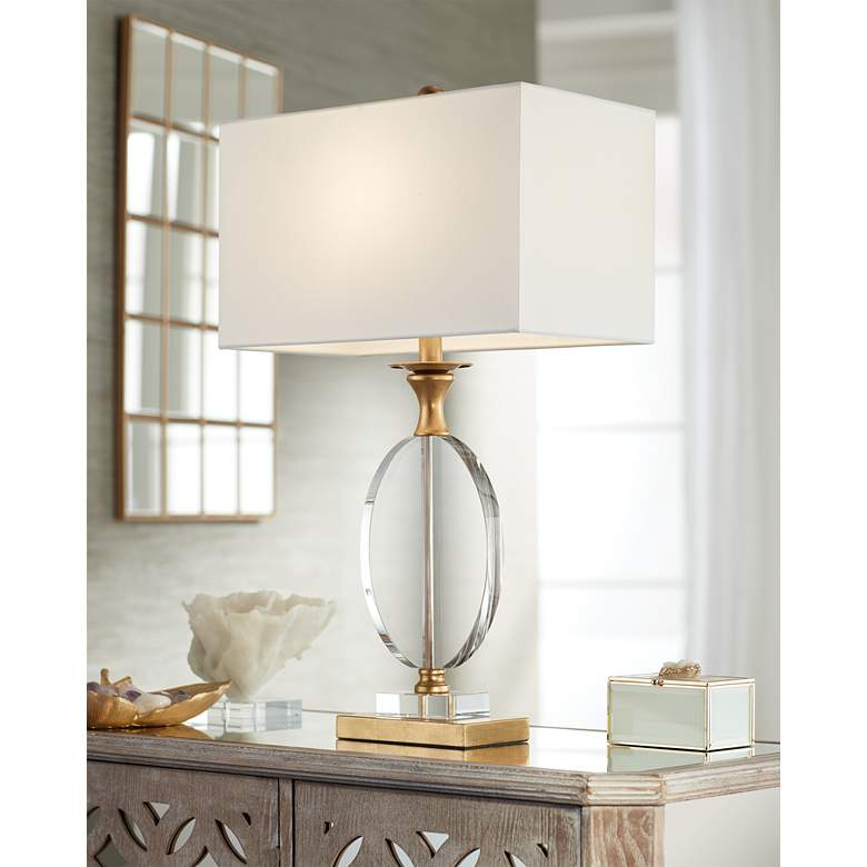 Valerie Crystal and Gold Table Lamp by Vienna Full Spectrum
