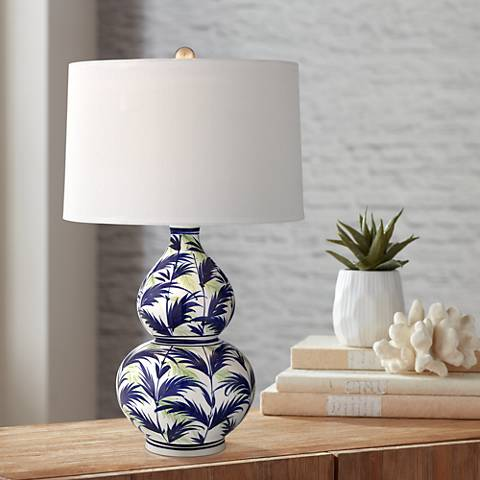 Tahiti Ceramic Double Gourd Table Lamp 55m60 Lamps Plus