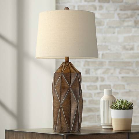 Katy Table Lamp with Oatmeal Shade