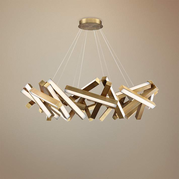 Modern Forms Chaos 61 W Aged Brass 31 Light Led Chandelier 55r36 Lamps Plus