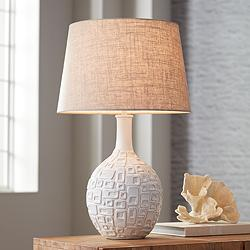 Abby Ivory Ceramic Table Lamp