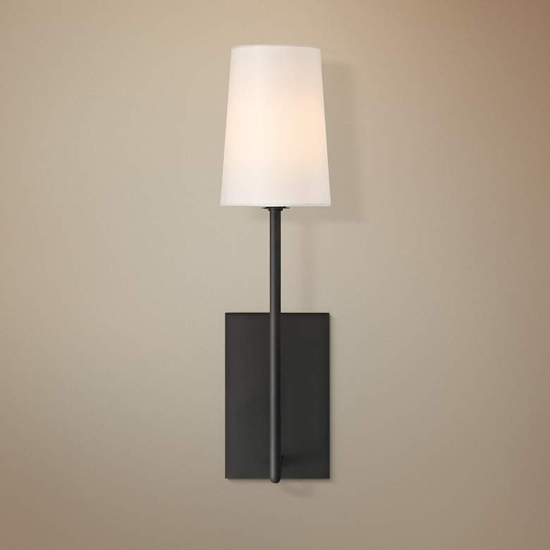 "Crystorama Lena 18"" High Black Forged Wall Sconce"