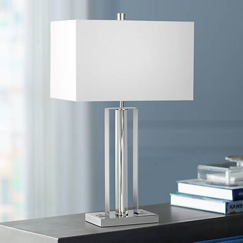 Kathy Ireland Park Studio Chrome and Crystal Table Lamp
