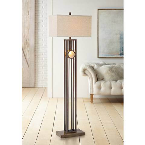 Midland Oil-Rubbed Bronze Floor Lamp with Night Light