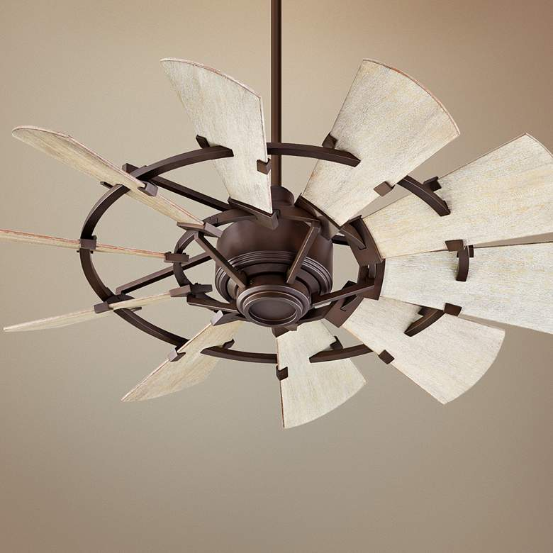"44"" Quorum Windmill Oiled Bronze Ceiling Fan"