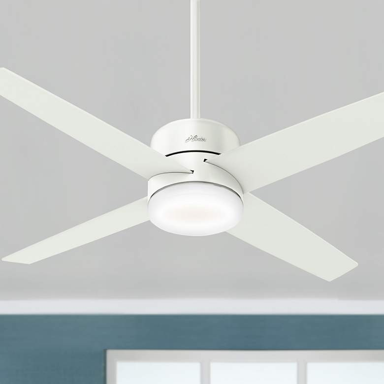 "54"" Hunter Advocate Fresh White LED Ceiling Fan"
