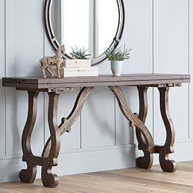 Orchard 64 Wide Pine Wood Foldout Console Table