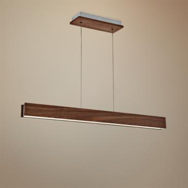 "Modern Forms Drift 38"" Wide Dark Walnut LED Island Pendant"
