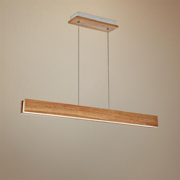"Modern Forms Drift 38"" Wide Walnut LED Island Pendant"