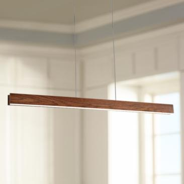 "Modern Forms Drift 56"" Wide Dark Walnut LED Island Pendant"