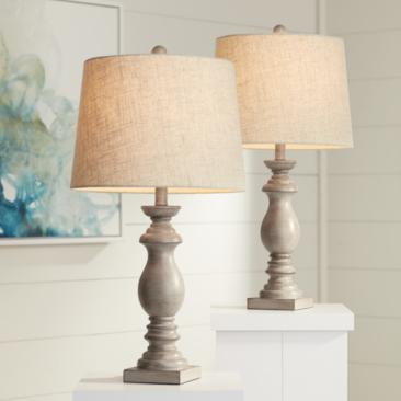Patsy Beige Washed Table Lamps Set of 2