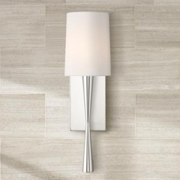 "Crystorama Trenton 18 1/2"" High Polished Nickel Wall Sconce"