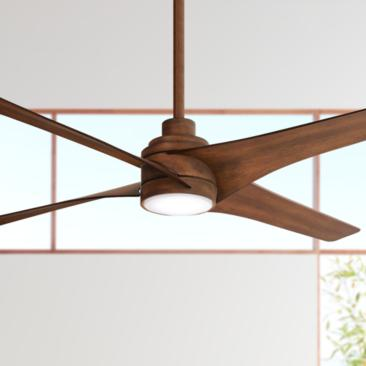 "56"" Minka Aire Swept Distressed Koa LED Ceiling Fan"